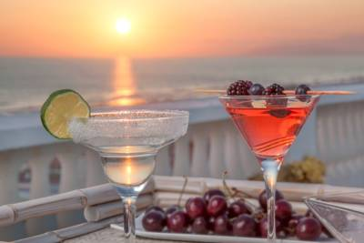 Drinks at sunset