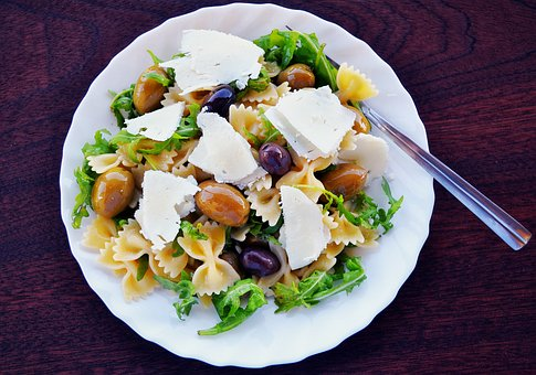 Pasta salad with olives