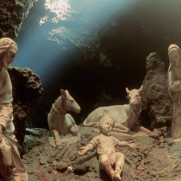 Amalfi Underwater Nativity Scene in Emerald Grotto